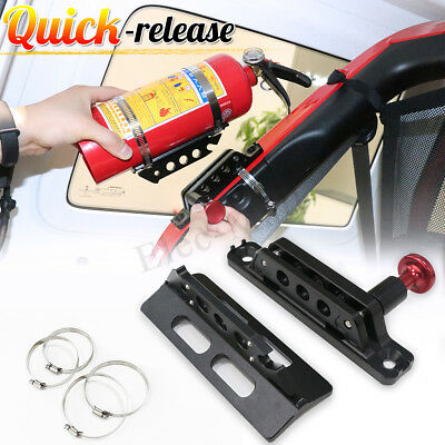 Fire Extinguisher Roll Cage Mount Kit For UTV RZR XP Maverick YXZ1000 Wildcat