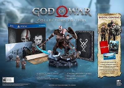 God of War Collector's Edition Playstation 4, Game Included & Brand New