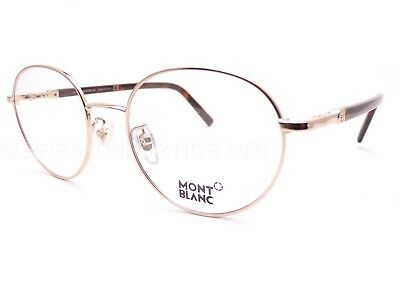 23fc335534 MONT BLANC round +0.25 to +3.50 Reading Glasses 52mm Gold  Brown MB0557 028
