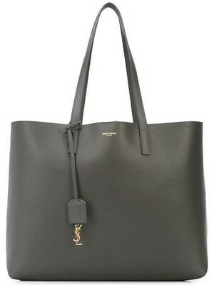 e906dc1b5f96 NWT YSL SAINT Laurent Large Shopper Brown Leather Tote Bag -  880.00 ...