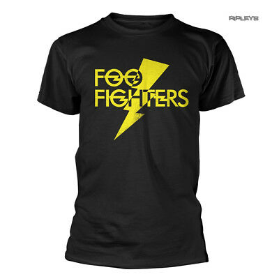 Official Black T Shirt FOO FIGHTERS Concrete & Gold 'Lightning Strike' All Sizes