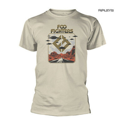 Official Beige T Shirt FOO FIGHTERS Concrete and Gold 'Roswell'  All Sizes