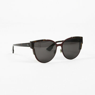 569bcda5fda01 CHRISTIAN DIOR Tortoiseshell Cat Eye Slim Sunglasses -  284.74 ...