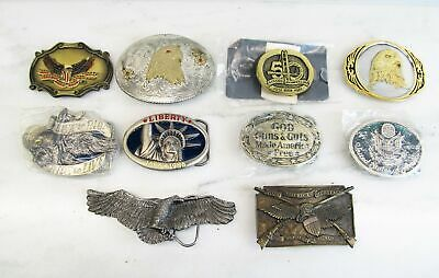 Lot of 10 Vintage Mens Large Metal Belt Buckles C2272