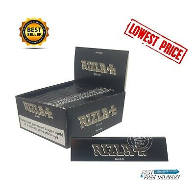 RIZLA BLACK KING SIZE SLIM Ultra Thin Finest CIGARETTE SMOKING ROLLING PAPERS