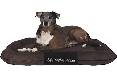 "XXL Extra Large Durable Bolster Pet Dog Bed Waterproof Oxford Cover 54X37"" Brown"