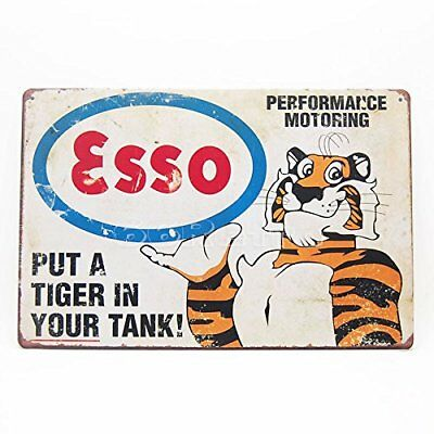 Esso Gasoline Put a Tiger in Your Tank Vintage Rustic Retro Tin Metal Sign