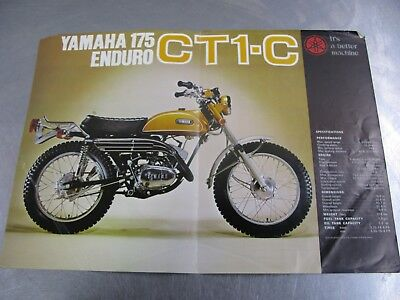 Yamaha 175 CT1-C Enduro Dirt Bike Brochure Dealer Sales Literature CT1C