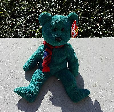 """Ty - Beanie Baby - """"Wallace"""" the Green Bear from the Beanie Babies Collection"""