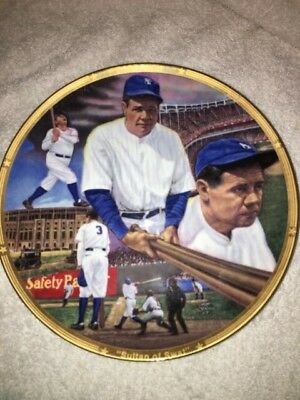 Babe Ruth '92 Sports Impressions Sultan of Swat 8 Inch Plate, New York Yankees!