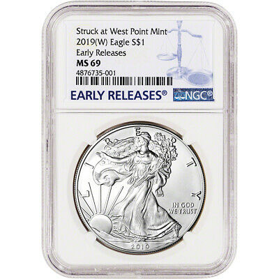 American Silver Eagle 2018- W NGC MS70 Early Releases Purple Heart Black