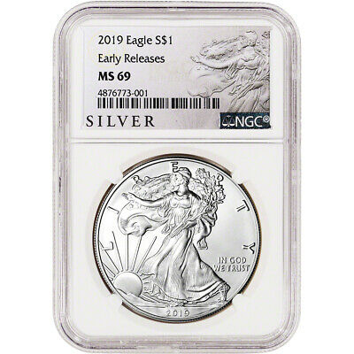 2019 American Silver Eagle - NGC MS69 - Early Releases - ALS Label