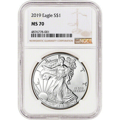 2019 American Silver Eagle - NGC MS70