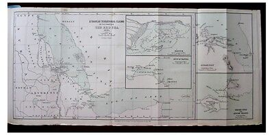 1885 Rawson - RED SEA COASTS - Territorial Claims - COLOR MAP - 2