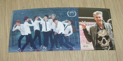BTS Bangtan Boys 2nd mini Album SKOOL LUV AFFAIR Rap Monster B Photo Card
