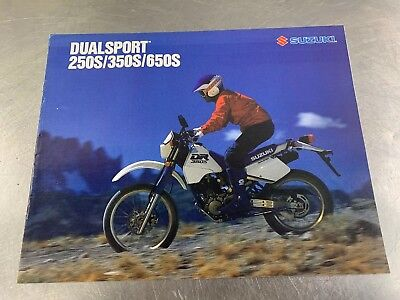 Suzuki 1990 Dualsport 250S-650S Brochure Dealer Sales Literature Dual Sport 90