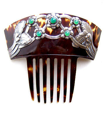 Art Nouveau signed hair comb by Georg Jensen skonvirke hair accessory