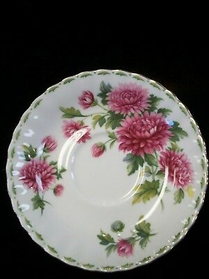 Royal Albert Chrysanthemum Flower Of The Month Saucer, Made in England