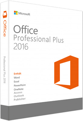 Microsoft Office 2016 Professional Plus Key MS Office Pro Plus Vollversion..