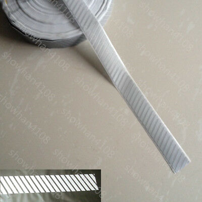 Silver DIY Stripe Reflective Warning Tape Iron On for Clothes Pants Bag Safety