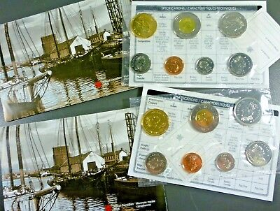 Canada 1952 - 2002 Uncirculated 7 Coin Mint Set Free Shipping!