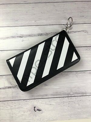 Off-White c/o Virgil Abloh - Diag Diagonal Stripe Zip Around Rectangle Wallet