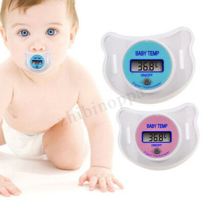 Safety Baby Kid Nipple Pacifier Thermometer Temperature LCD Digital Mouth New