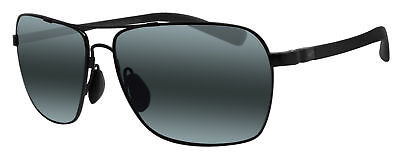 62da315bc16 MAUI JIM 326-02 Freight Trains Gloss Black   Neutral Grey Sunglasses ...