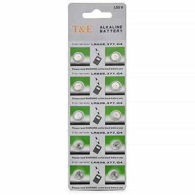 Pack AG4 377A 377 LR626 SR626SW SR66 LR66 376 Alkaline Button Cell Watch Battery