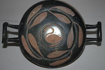ANCIENT GREEK POTTERY 'SWAN'  KYLIX 4th century BC MAGNA GRECIAN