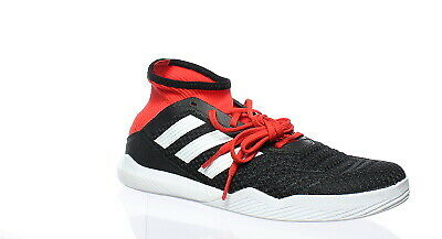 official photos 317c7 51486 Adidas Mens Predator Tango 18.3 Black White Red Indoor Soccer Shoes Size 9.5