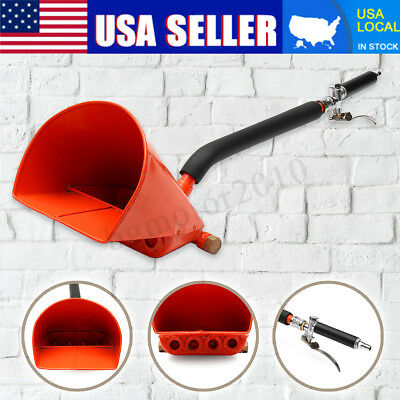 Cement Mortar Concrete 4 Jets Air Stucco Sprayer Hopper Wall Plastering Gun Tool