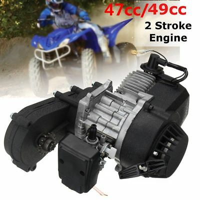 47cc 49cc Engine 2-Stroke Electric Pull Start W/Transmission Mini Moto Quad Bike