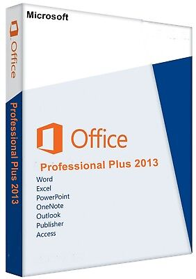 Microsoft Office 2013 Professional Plus 1 PC 32&64 Bit Key Sofort Versand