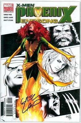 X-Men Phoenix End Song #2 Variant Dynamic Forces Signed Greg Land Df Coa Movie
