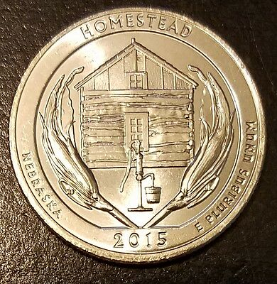 2015-D Homestead NP America the Beautiful Quarter - From US Mint Roll! (7542)