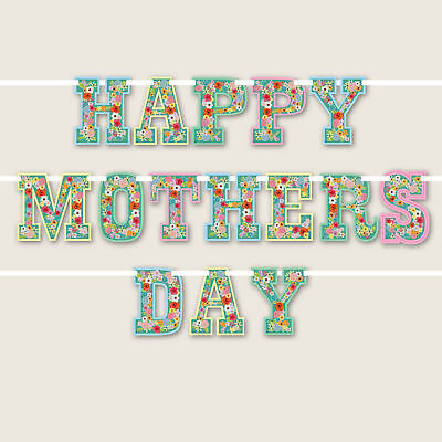 Floral 'Happy Mother's Day' Letter Banner / Garland Decoration