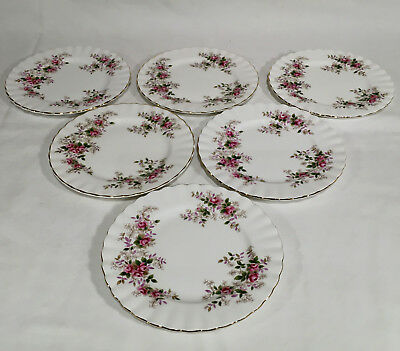 Royal Albert Lavender Rose Lot of 6 Bread and Butter Plates