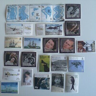50 Different British Indian Ocean Territory Stamp Collection