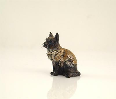 Franz Bergmann Vienna Sitting SIAM CAT Bronze Cold Painted Bergman Brass Austria