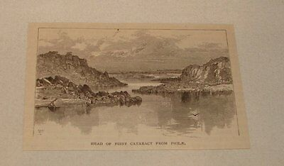 1877 magazine engraving ~ FIRST CATARACT FROM PHILAE, Egypt