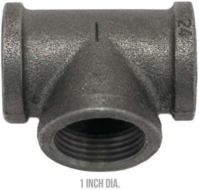 """Black Industrial Pipe Decor 1"""" Banded Tee 750810252471"""