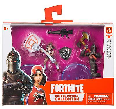 Fortnite Battle Royale Collection Figures Duo Pack Black Knight & Triple Threat