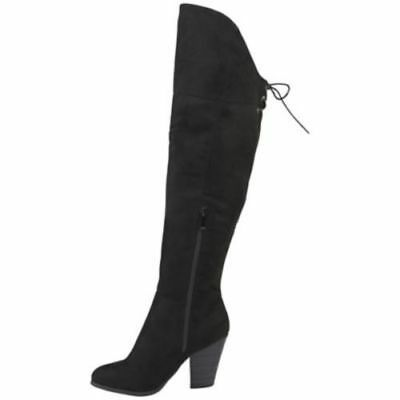 500c6e2ddd9 Journee Collection Women s Suede Over the Knee Boots - Black - Size 8.5