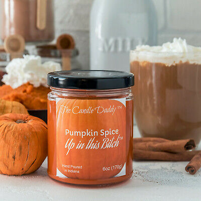 e9c534202e69 PUMPKIN SPICE IMAGE 6 oz jar candle by The Candle Daddy 40 plus hour ...