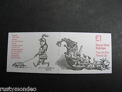 QE II 1992, 150th anv Punch Magazine, SG: FH26, £1 folded booklet, Mint