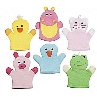 Wash Cloths Mitt Children Baby Animals Bath Shower Cleaning Cat Various Types