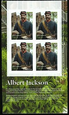 Canada Sc#?? Black History Month : Albert Jackson, Block 4 from Booklet, Mint-NH