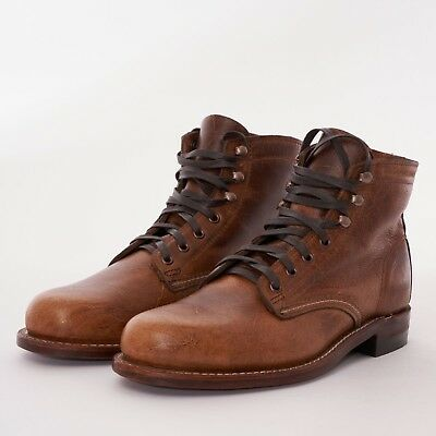 9c4e8d0d696 NEW WOLVERINE 1000 Mile Evans Boots Dark Brown Leather Mens Sizes 8 ...