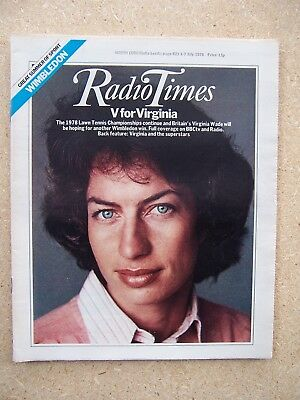 Radio Times/1978/Wimbledon/Virginia Wade/Wonder Woman/Lynda Carter/